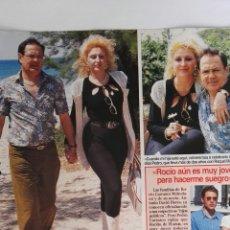 Coleccionismo de Revistas: RECORTE REVISTA LECTURAS 28/07/95 PEDRO CARRASCO RAQUEL MOSQUERA CLIPPING. Lote 125130590