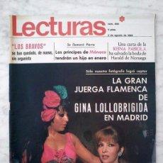 Collectionnisme de Magazines: LECTURAS - 1968 - GINA LOLLOBRIGIDA, LOS BRAVOS, GIGLIOLA CINQUETTI, AUDREY HEPBURN, MOTTA Y SERRAT. Lote 91697215
