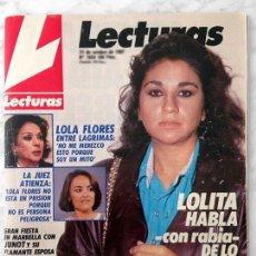 Coleccionismo de Revistas: LECTURAS - 1987 - LOLITA, ROCÍO JURADO, ISABEL PREYSLER, VICKY LARRAZ, DON JOHNSON, SARA MONTIEL. Lote 97787191