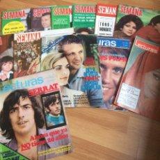Coleccionismo de Revistas: LOTE REVISTAS CORAZÓN AÑOS 70 - SEMANA - LECTURAS. Lote 129321827