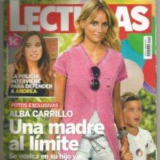 Coleccionismo de Revistas: REVISTA LECTURAS 3410. 2 DE AGOSTO DE 2017 TAMAÑO PEQUEÑO. ALBA CARRILLO:UNA MADRE AL LÍMITE. Lote 129567103