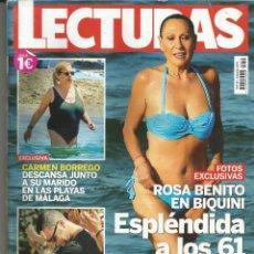 Coleccionismo de Revistas: REVISTA LECTURAS 3412. 16 AGOSTO DE 2017 TAMAÑO PEQUEÑO. ROSA BENITO EN BIQUINI: ESPLÉNDIDA A LOS 61. Lote 129567159