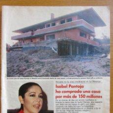 Coleccionismo de Revistas: RECORTE LECTURAS 1989 ISABEL PANTOJA 6 PGS. Lote 131277459