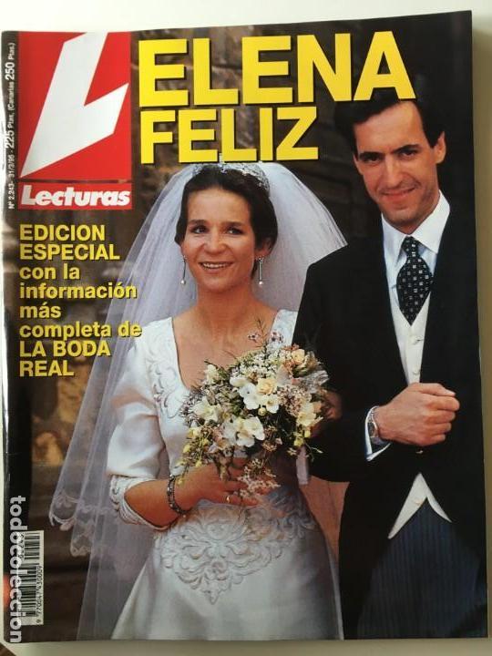 REVISTA LECTURAS BODA INFANTA ELELNA (Coleccionismo - Revistas y Periódicos Modernos (a partir de 1.940) - Revista Lecturas)