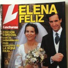 Coleccionismo de Revistas: REVISTA LECTURAS BODA INFANTA ELELNA. Lote 133130950