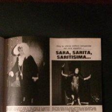 Coleccionismo de Revistas: SARA MONTIEL. RECORTE REVISTA. Lote 133639334