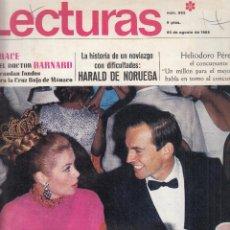 Coleccionismo de Revistas: REVISTA LECTURAS Nº 853 AÑO 1968. GRACE Y EL DOCTOR BARHARD. HARALD DE NORUEGA. HELIODORO PEREZ.. Lote 133822474