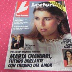 Coleccionismo de Revistas: REVISTA LECTURAS Nº1903 AÑO 1988 PAQUIRRI BERTIN OSBORNE ISABEL PANTOJA MARTA CHAVARRI . Lote 133848614