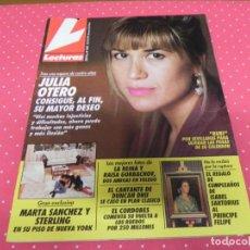 Coleccionismo de Revistas: LECTURAS 2067. 1991. JULIA OTERO, MARTA SANCHEZ, PATRICK SWAYZE, JEANETTE, LOLA FLORES, MABEL LOZAN. Lote 133851230