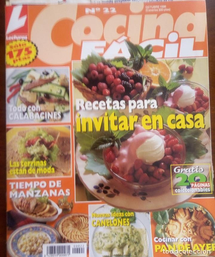 REVISTA DE LECTURAS COCINA FACIL Nº 22 RECETAS PARA INVITAR EN CASA OCTUBRE  1998
