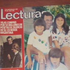 Coleccionismo de Revistas: LECTURAS JULIO IGLESIAS CON SUS HIJOS 1982 N 1505. Lote 134847941