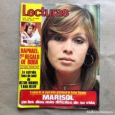 Coleccionismo de Revistas: REVISTA LECTURAS N° 1054, DEL AÑO 1972. MARISOL, RAPHAEL, ANA BELEN Y VICTOR MANUEL,... Lote 135120822