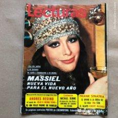 Coleccionismo de Revistas: REVISTA LECTURAS N° 976 (ENERO, 1971). PORTADA MASSIEL. POSTER DE LOCOMOTORO (VALENTINA, CAPITÁN TAN. Lote 135895525