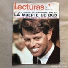 Coleccionismo de Revistas: REVISTA LECTURAS N°843 (JUNIO, 1968). LA MUERTE DE BOB KENNEDY, ROCIO DÚRCAL, MASSIEL,.... Lote 135897166