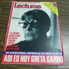 Coleccionismo de Revistas: LECTURAS 03/11/1972- GRETA GARBO- LYNDA JOHNSON- BOGES DAVIS. Lote 136471678