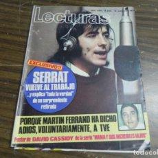 Coleccionismo de Revistas: LECTURAS 12/11/1971 SERRAT - MARTIN FERRAND . Lote 136472066