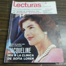 Coleccionismo de Revistas: LECTURAS 26/12/1968- JACQUELINE ONASSIS- SORAYA- ROBERT KENNEDY. Lote 136472170
