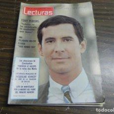 Coleccionismo de Revistas: LECTURAS 20/11/1964 TONY PERKINS - JACQUELINE KENNEDY - PRINCIPE RAINIERO . Lote 136472542