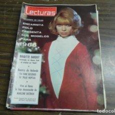 Coleccionismo de Revistas: LECTURAS 31/12/1965 ENCARNITA POLO - BRIGITTE BARDOT - BEATRIZ DE HOLANDA - MARLENE DIETRICH . Lote 136472618
