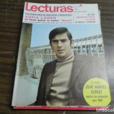 Coleccionismo de Revistas: LECTURAS 10/01/1969- ONASSIS Y JACQUELINE-JOAN MANUEL SERRAT- SOFIA LOREN. Lote 136472730