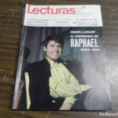 Coleccionismo de Revistas: LECTURAS 26/01/1968 MARLON BRANDO - RAPHAEL - SERRAT A EUROVISION . Lote 136483302