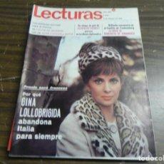 Coleccionismo de Revistas: LECTURAS 06/02/1968- GINA LOLLOBRIGIDA- JACQUELINE KENNEDY- BENEDICTA DE DINAMARCA. Lote 136484058
