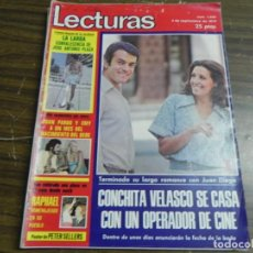 Coleccionismo de Revistas: LECTURAS 05/09/1975 JOSE ANTONIO PLAZA - JUAN PARDO - CONCHITA VELASCO - RAPHAEL . Lote 136484622