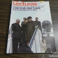 Coleccionismo de Revistas: LECTURAS 16/02/1968- REINA VICTORIA EUGENIA- BAUTIZO FELIPE DE BORBON- . Lote 136484886
