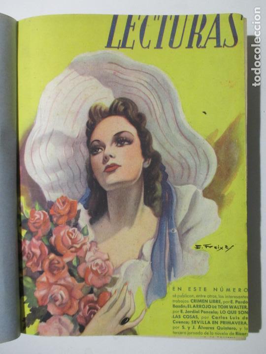 Coleccionismo de Revistas: 9 REVISTAS LECTURAS. AÑOS DE 1941 A 1953. NÚMEROS DEL 201 AL 347. VER DESCRIPCIÓN Y FOTOS. - Foto 2 - 137204126