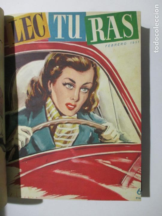 Coleccionismo de Revistas: 17 REVISTAS LECTURAS. AÑOS DE 1950 A 1953. NÚMEROS DEL 309 AL 348. VER PORTADAS EN FOTOS. - Foto 5 - 137204666