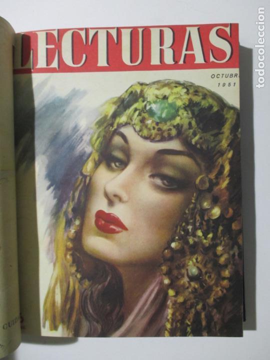 Coleccionismo de Revistas: 17 REVISTAS LECTURAS. AÑOS DE 1950 A 1953. NÚMEROS DEL 309 AL 348. VER PORTADAS EN FOTOS. - Foto 6 - 137204666