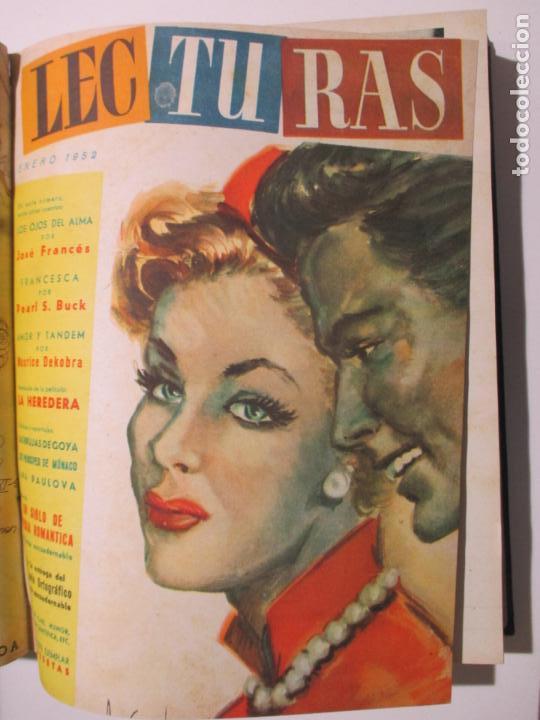 Coleccionismo de Revistas: 17 REVISTAS LECTURAS. AÑOS DE 1950 A 1953. NÚMEROS DEL 309 AL 348. VER PORTADAS EN FOTOS. - Foto 7 - 137204666