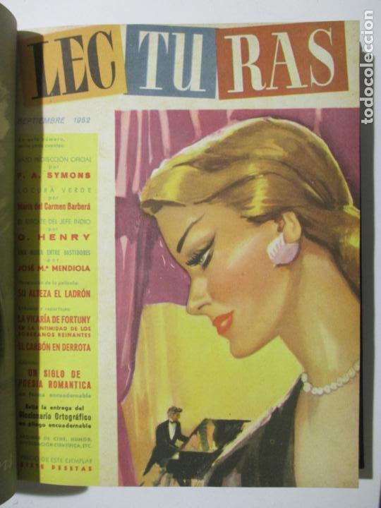Coleccionismo de Revistas: 17 REVISTAS LECTURAS. AÑOS DE 1950 A 1953. NÚMEROS DEL 309 AL 348. VER PORTADAS EN FOTOS. - Foto 8 - 137204666