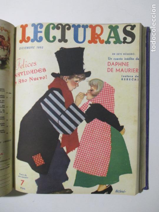 Coleccionismo de Revistas: 17 REVISTAS LECTURAS. AÑOS DE 1950 A 1953. NÚMEROS DEL 309 AL 348. VER PORTADAS EN FOTOS. - Foto 10 - 137204666