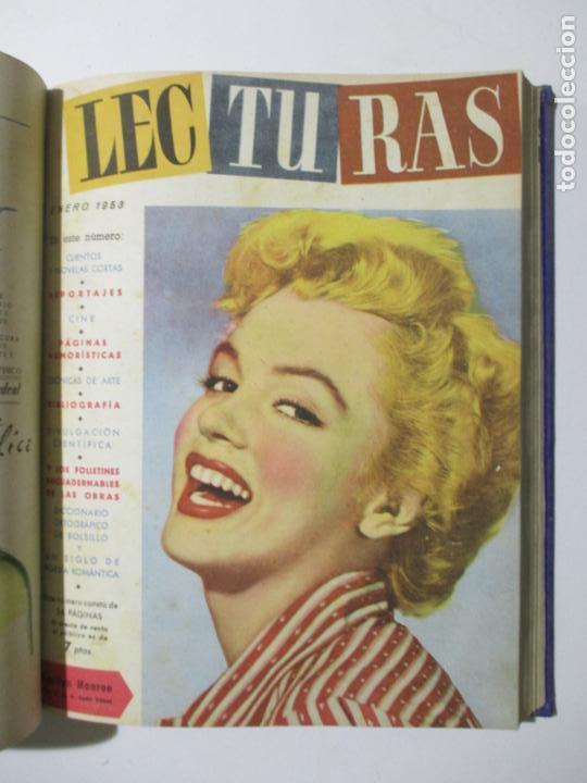 Coleccionismo de Revistas: 17 REVISTAS LECTURAS. AÑOS DE 1950 A 1953. NÚMEROS DEL 309 AL 348. VER PORTADAS EN FOTOS. - Foto 11 - 137204666