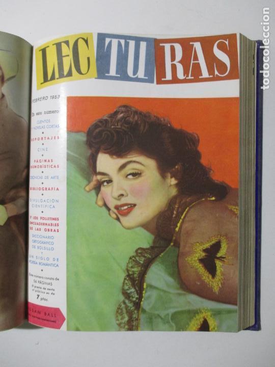 Coleccionismo de Revistas: 17 REVISTAS LECTURAS. AÑOS DE 1950 A 1953. NÚMEROS DEL 309 AL 348. VER PORTADAS EN FOTOS. - Foto 12 - 137204666