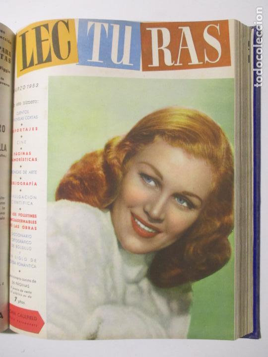 Coleccionismo de Revistas: 17 REVISTAS LECTURAS. AÑOS DE 1950 A 1953. NÚMEROS DEL 309 AL 348. VER PORTADAS EN FOTOS. - Foto 13 - 137204666