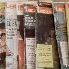 Coleccionismo de Revistas: LOTE DE 9 REVISTAS ANTIGUAS - LECTURAS. Lote 137826486