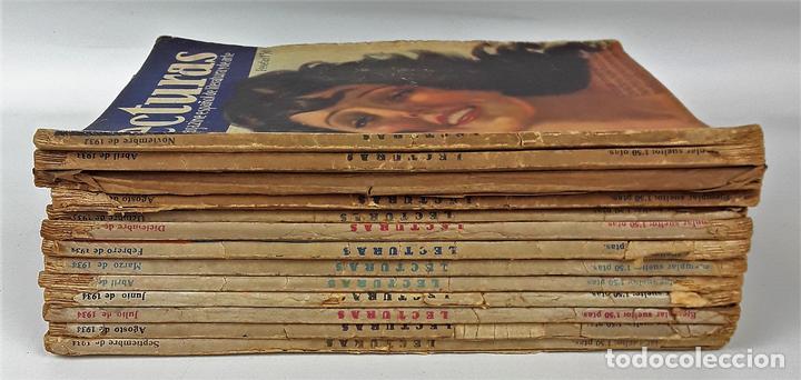 LECTURAS. 13 EJEMPLARES. AÑOS XII, XIII Y XIV. ADM. PUBLICITAS, S. A. (Coleccionismo - Revistas y Periódicos Modernos (a partir de 1.940) - Revista Lecturas)