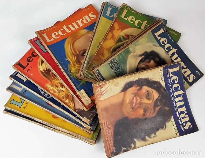Coleccionismo de Revistas: LECTURAS. 13 EJEMPLARES. AÑOS XII, XIII Y XIV. ADM. PUBLICITAS, S. A. - Foto 2 - 139193790