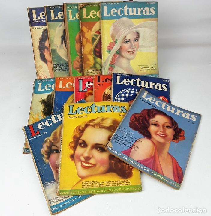 Coleccionismo de Revistas: LECTURAS. 13 EJEMPLARES. AÑOS XII, XIII Y XIV. ADM. PUBLICITAS, S. A. - Foto 3 - 139193790