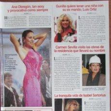 Coleccionismo de Revistas: RECORTE LECTURAS 2324 1996 ROCIO JURADO, ANA OBREGON. Lote 139385810