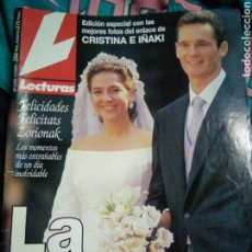 Coleccionismo de Revistas: REVISTA LECTURAS BODA REAL IÑAQUI URDANGARIN CRISTINA BORBON AÑO 1997. Lote 139639106