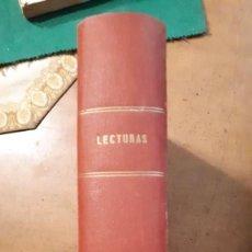 Coleccionismo de Revistas: 14 REVISTAS DE LECTURAS ENCUADERNADAS 1937, 43 Y 44. Lote 140040582