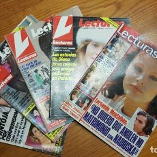 Coleccionismo de Revistas: LOTE DE 5 REVISTAS LECTURAS - BUEN ESTADO. VER DESCRIPCIÓN Y FOTOGRAFÍAS.. Lote 140305346
