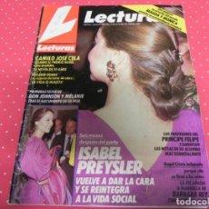 Coleccionismo de Revistas: REVISTA LECTURAS / NOVIEMBRE 1989 / ISABEL PREYSLER, / CAMILO JOSE CELA / BARBARA REY . Lote 140326838