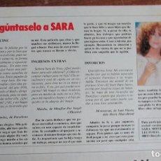Coleccionismo de Revistas: RECORTE REVISTA LECTURAS Nº 1755 1985 SARA MONTIEL. Lote 140615906