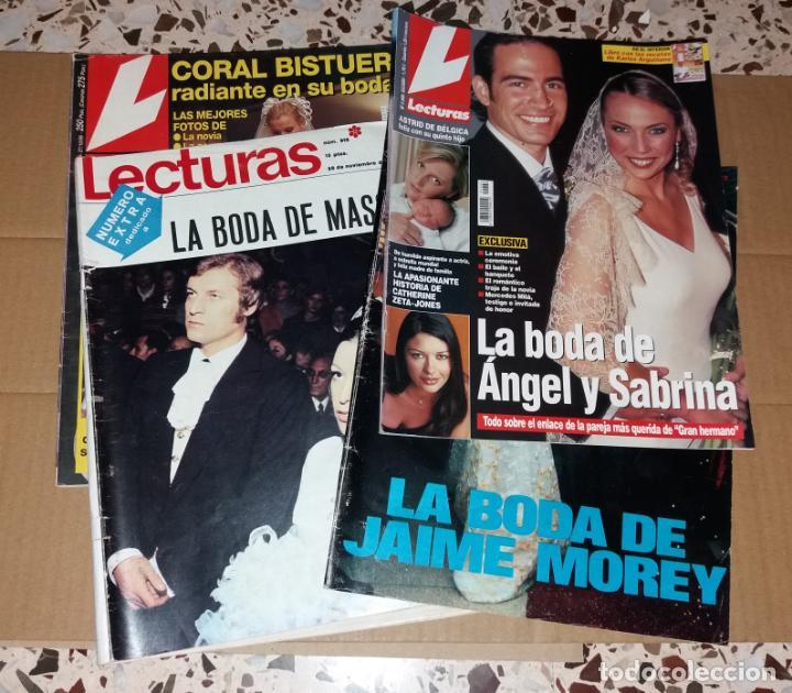 REVISTAS DEL CORAZÓN. LECTURAS, BODAS FAMOSOS (MASSIEL, JAIME MOREY, ÁNGEL Y SABRINA, CORAL BISTUER) (Coleccionismo - Revistas y Periódicos Modernos (a partir de 1.940) - Revista Lecturas)