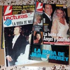 Coleccionismo de Revistas: REVISTAS DEL CORAZÓN. LECTURAS, BODAS FAMOSOS (MASSIEL, JAIME MOREY, ÁNGEL Y SABRINA, CORAL BISTUER). Lote 140617062