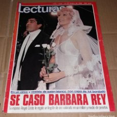 Coleccionismo de Revistas: REVISTA DEL CORAZÓN. LECTURAS BODA BÁRBARA REY Y ÁNGEL CRISTO, Nº1449 25/01/1980. Lote 140618178